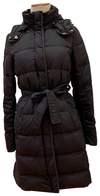 Item - Navy Belted Puffer Long Coat Size 2 (XS)