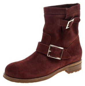 Jimmy Choo Suede Detail Brown Boots