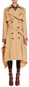 Item - Khaki Double-breasted Belt Drape-side Wool Trench Coat Jacket