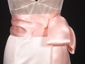 Light Peach Ribbon Sash