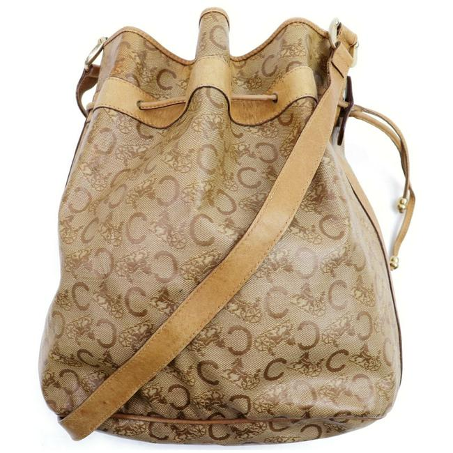 Item - Macadam Bucket Hobo Drawstring Monogram Logo 872408 Light Brown Coated Canvas Shoulder Bag