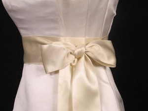 Cream Ribbon Sash 2 3/4