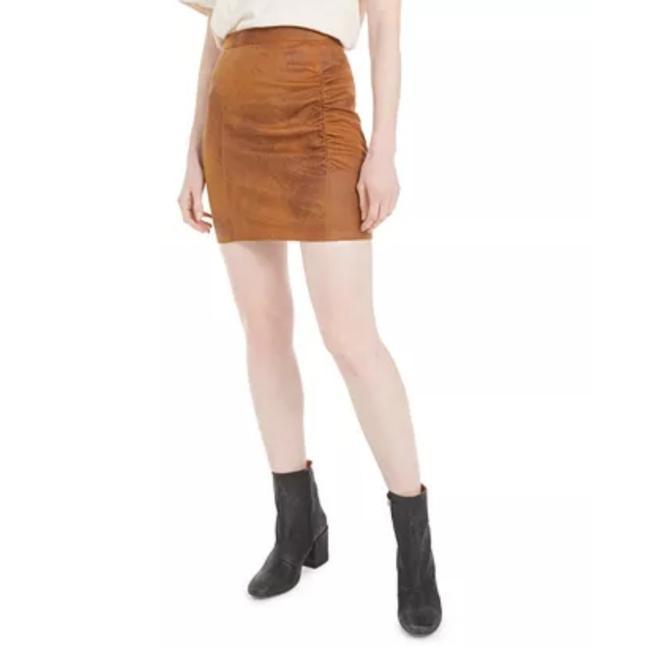 Item - Brown Faux Suede Skirt Size 2 (XS, 26)