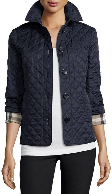 Item - Navy Quilted Ashurst Jacket Size 4 (S)