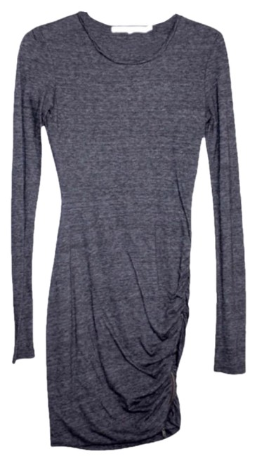 Item - Grey Twisted Zip Short Night Out Dress Size 0 (XS)
