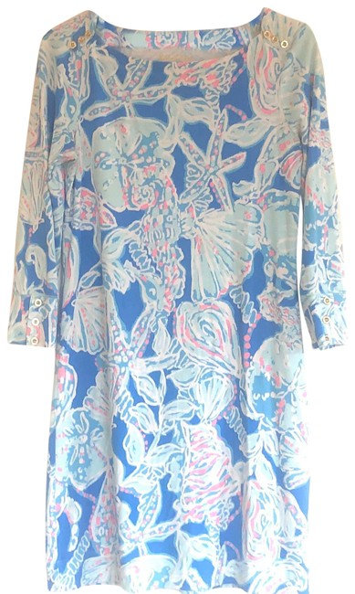 Item - Blue Lp Upf 50 Bay Into The Deep Sophie Short Casual Dress Size 4 (S)