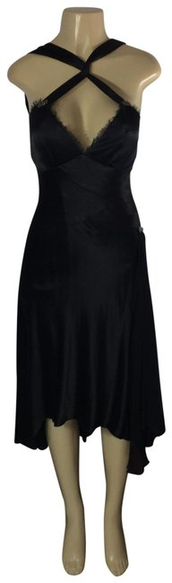 Item - Black Nice Mid-length Cocktail Dress Size 4 (S)