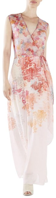 Item - Coral Multi Bcbg Max Azria Runway Jourdan Long Night Out Dress Size 10 (M)