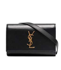 Saint Laurent Ysl Kate Belt Black Cross Body Bag