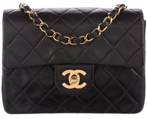 Chanel Mini Square Classic Flap Cc Logo Cross Body Bag