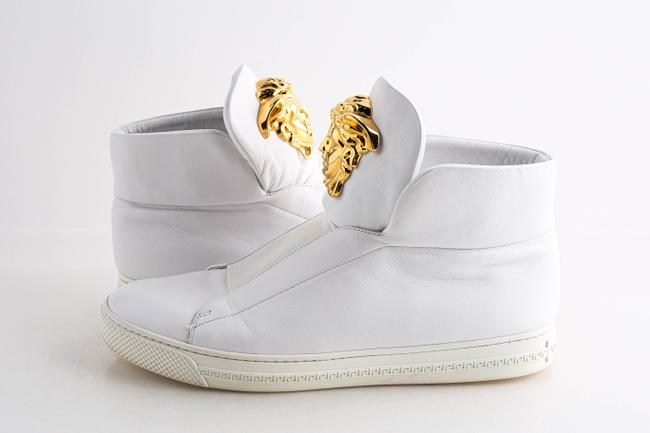 Item - White Slip-on High Top Palazzo Sneakers Shoes