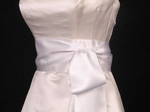 White White Ribbon Sash 4
