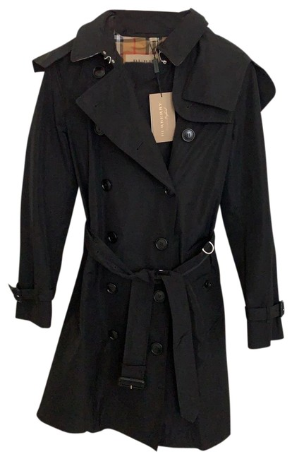 Item - Black Kensington Double Breasted with Detachable Hood Coat Size 4 (S)