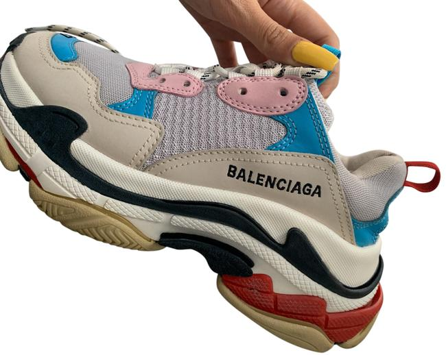 Item - Blue/Pink Triple S Sneakers Size US 7 Regular (M, B)