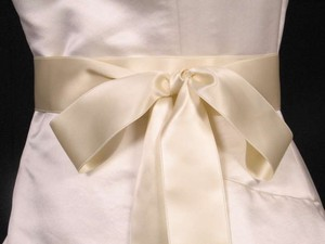 Cream Ribbon Sash 2