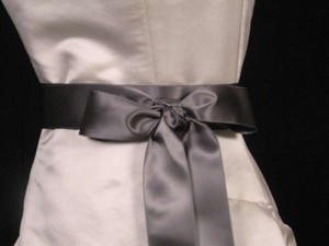Pewter Grey Ribbon Sash