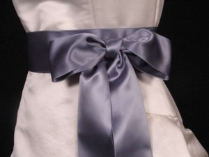 Smoke Blue Ribbon Sash