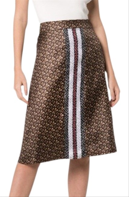 Item - Brown/ White Monogram Skirt Size 2 (XS, 26)
