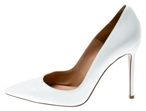 Gianvito Rossi Leather Pointed Toe White Pumps