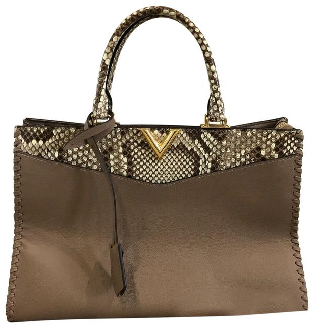 Item - Very Zip Tote Taupe Leather Baguette