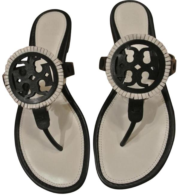 Item - White Black/Bleach/Black Size-6.5 Miller Fringe Sandals Size US 6.5 Regular (M, B)