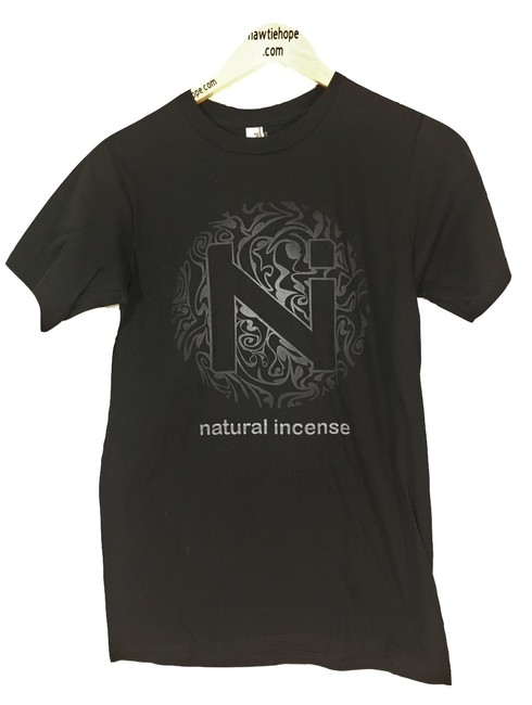 Item - Black Womens Small Graphic Sleeve Natural Incense Branded Tee Shirt Size 6 (S)