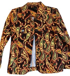 Analogy Brown yellow red green, never worn Blazer