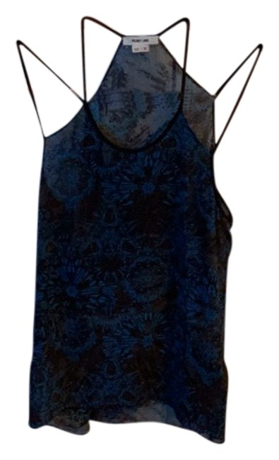 Item - Multi Blue - Brown Sexy Strappy Tank Top/Cami Size 4 (S)