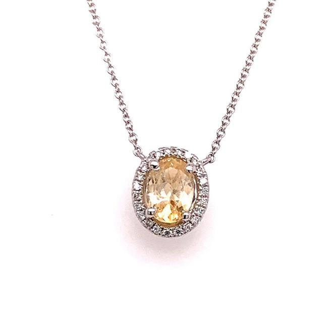 "Item - Yellow Diamond Sapphire 18"" 18k Gold Certified 921162 Necklace"