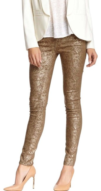 Item - Gold Gwenevere Metallic Skinny Jeans Size 2 (XS, 26)