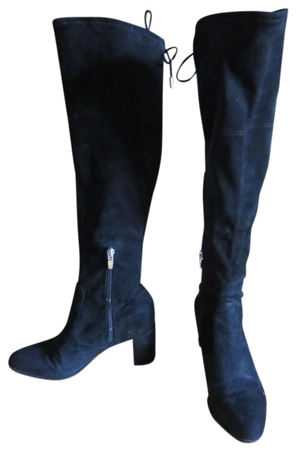 Marc Fisher Black Suede Over The Knee Boots/Booties Size US 7 Regular (M, B) Marc Fisher Black Suede Over The Knee Boots/Booties Size US 7 Regular (M, B) Image 1