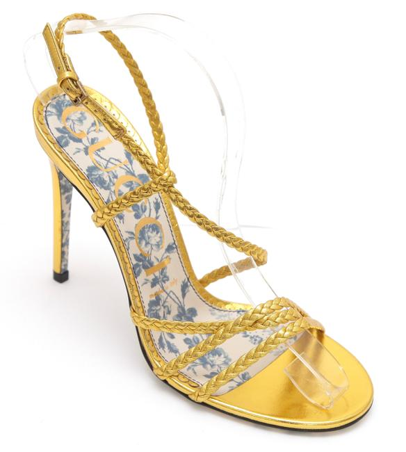 Item - Gold Metallic Leather Haines Strappy Floral New Sandals Size EU 38 (Approx. US 8) Regular (M, B)