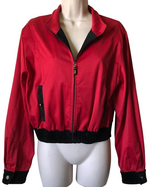 Item - Red Black Cropped Jacket Size 8 (M)