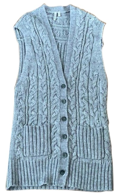 Caslon Gray Wool Cable Knit Sweater Vest Size 8 (M) Caslon Gray Wool Cable Knit Sweater Vest Size 8 (M) Image 1
