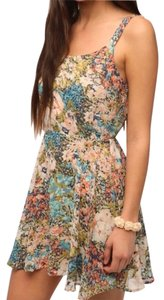 Lucca Couture short dress floral print on Tradesy