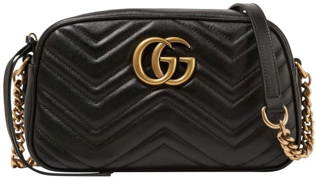 Item - Camera Marmont Gg Small Black Leather Cross Body Bag