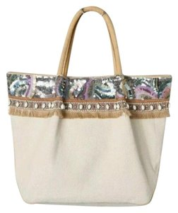 Miss Albright Tote in Tan, Pink, Purple, Brown, White, Green