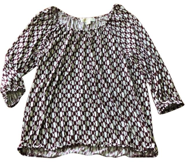 Item - Magenta and White Classic Tunic Size 12 (L)
