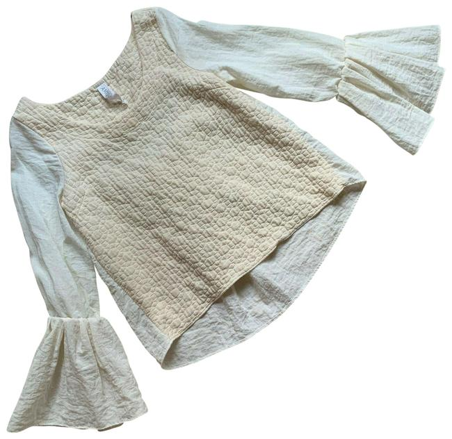 Item - Cream White Sleeve Made In Usa Blouse Size 4 (S)