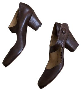 Fiorentini + Baker Leather Mary Jane brown Pumps