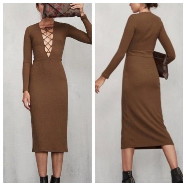 Item - Brown Edison Mid-length Casual Maxi Dress Size 4 (S)