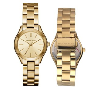 Michael Kors Mini Slim Runway Goldtone Three-Hand Watch MK3512