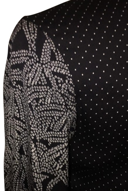 Item - Black and White Coordinated Patterns Rn 84177 Long Night Out Dress Size 6 (S)