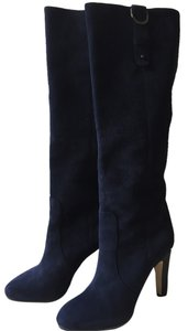 Jimmy Choo Suede Navy Blue Boots