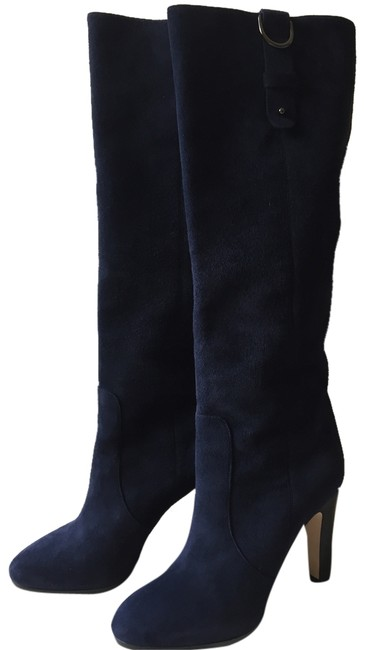 Item - Navy Blue New Tall Grand Suede Knee- Length Boots/Booties Size US 5.5 Regular (M, B)