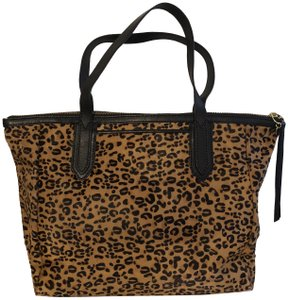 Fossil Tote in Leopard