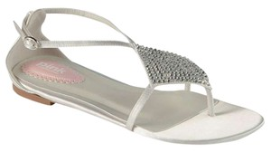 Paradox London Pink Tropical Collection Benjamin Adams Tropical Tropical Bridal Beach Sandals Rhinestone Sandals White Satin Flats