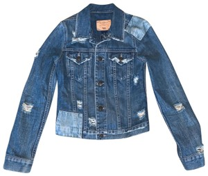 Earl Jean Blue-denim Womens Jean Jacket