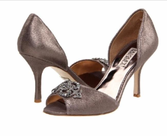 Item - Pewter Salsa D'orsay Heels In Pumps Size US 8 Regular (M, B)