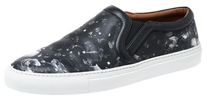 Givenchy Floral Print Leather Black Athletic